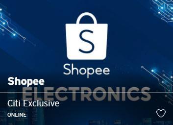 Citi Shopee Electronics 优惠码