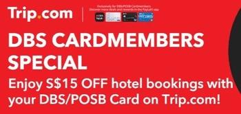 Trip.com DBS信用卡会员优惠码