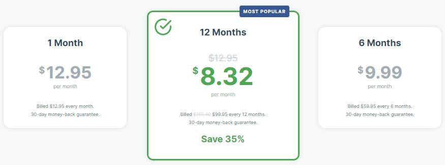 ExpressVPN价格表