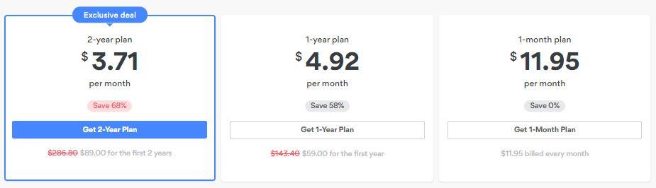 New Pricing Plan NordVPN