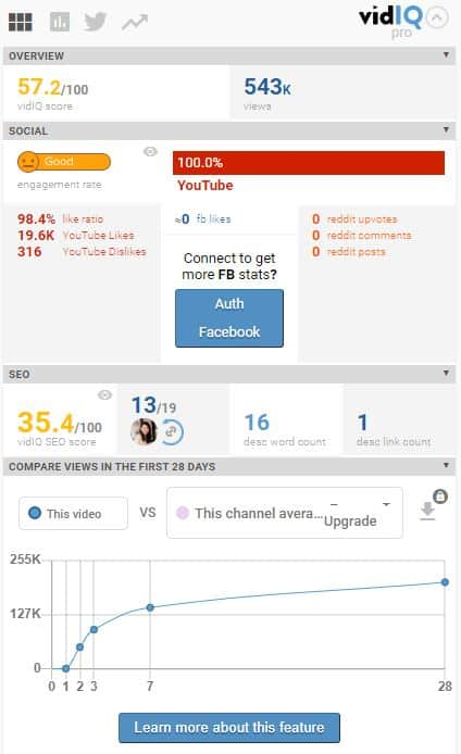 vidIQ Video Analysis 1