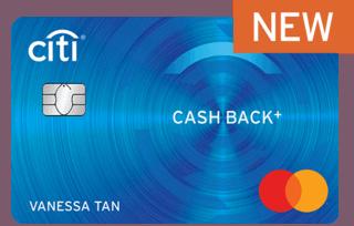 新加坡花旗银行Cash Back+ 信用卡