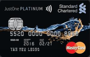 马来西亚渣打银行JustOne Platinum Mastercard信用卡
