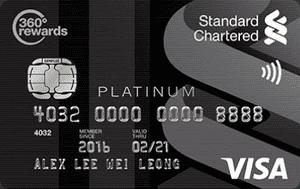 马来西亚渣打银行Visa Platinum信用卡