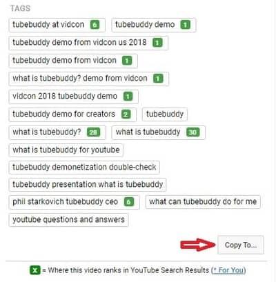 Tubebuddy Videolytics Tags