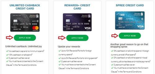 申请Standard Chartered信用卡第一步