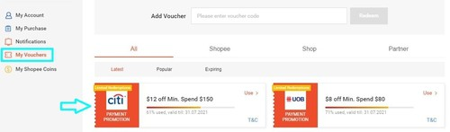 怎样查看已领取的Shopee优惠券