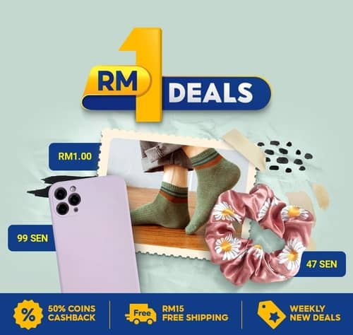 Shopee RM1 优惠